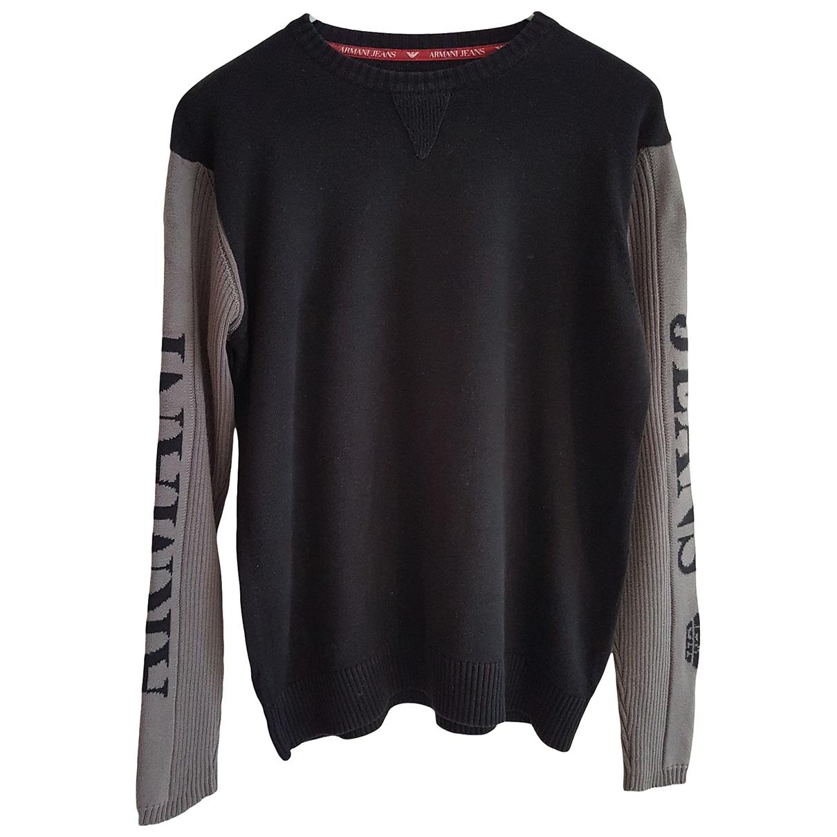Armani Jeans \N Pullover.Westen.Sweatshirts  in  Schwarz Baumwolle