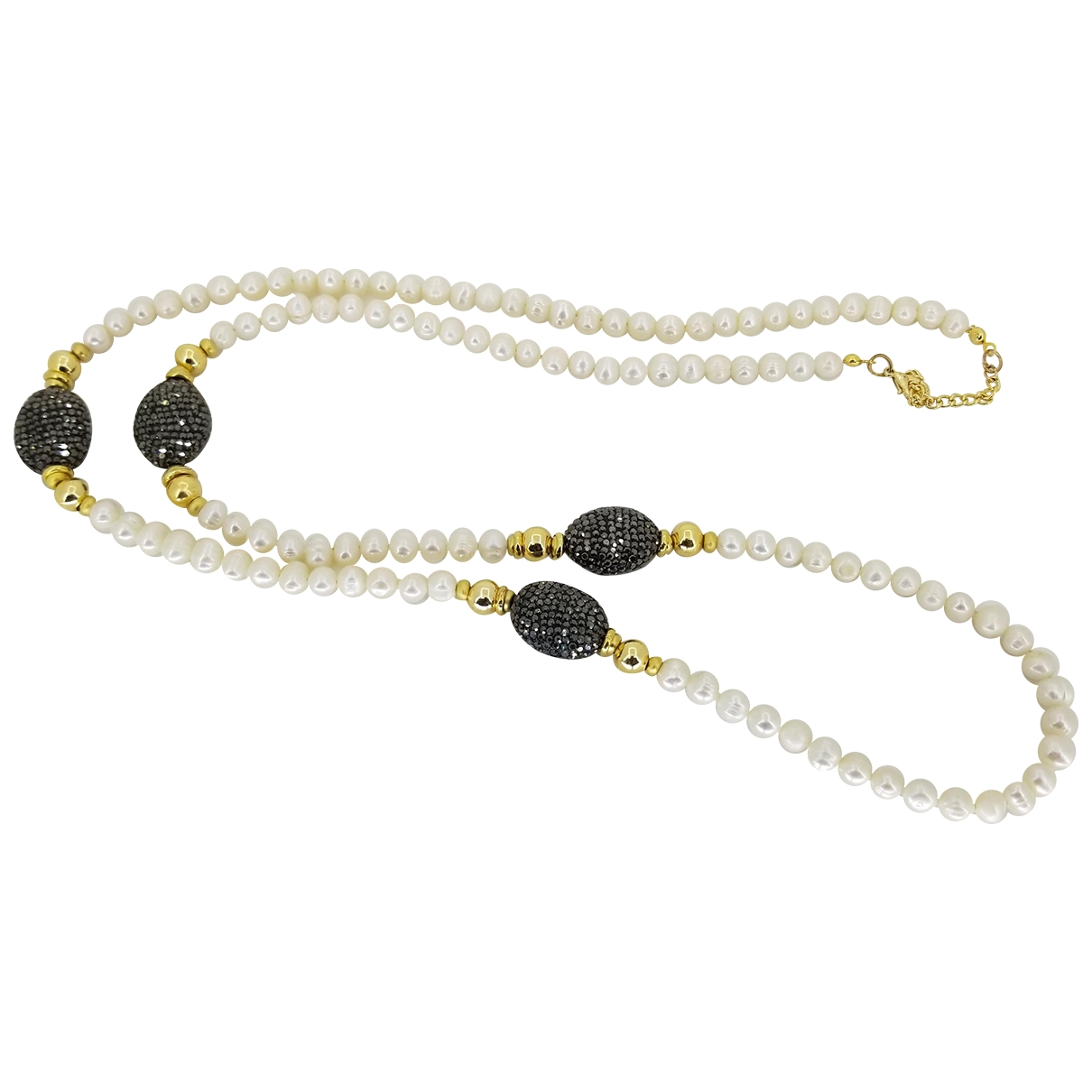 Non Signé / Unsigned \N White Pearls necklace for Women \N