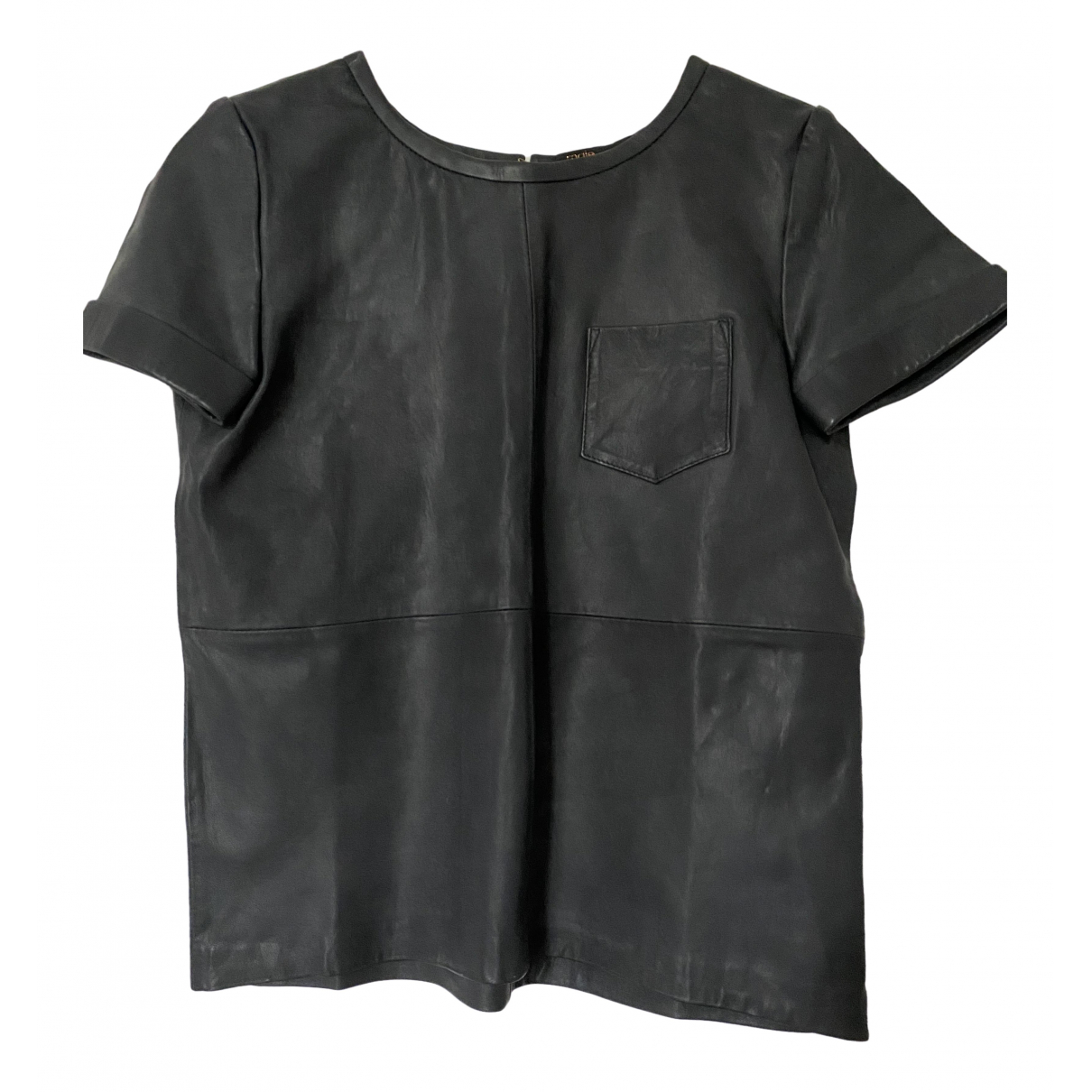 Maje \N Black Leather  top for Women 38 FR
