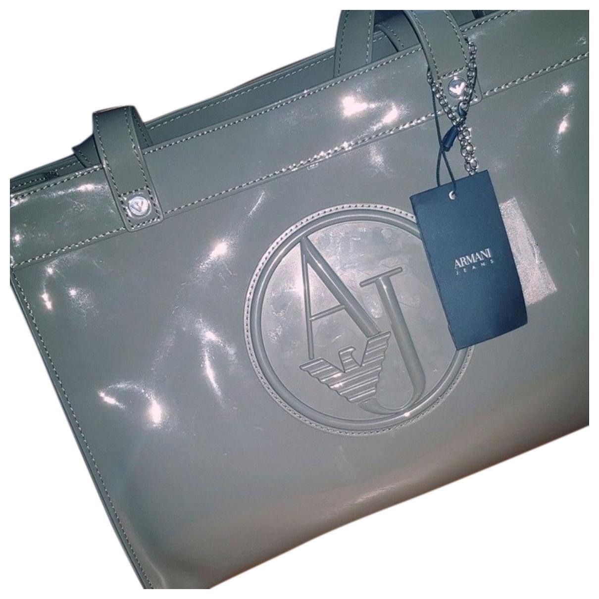 Armani Jeans \N Handtasche in  Grau Leder