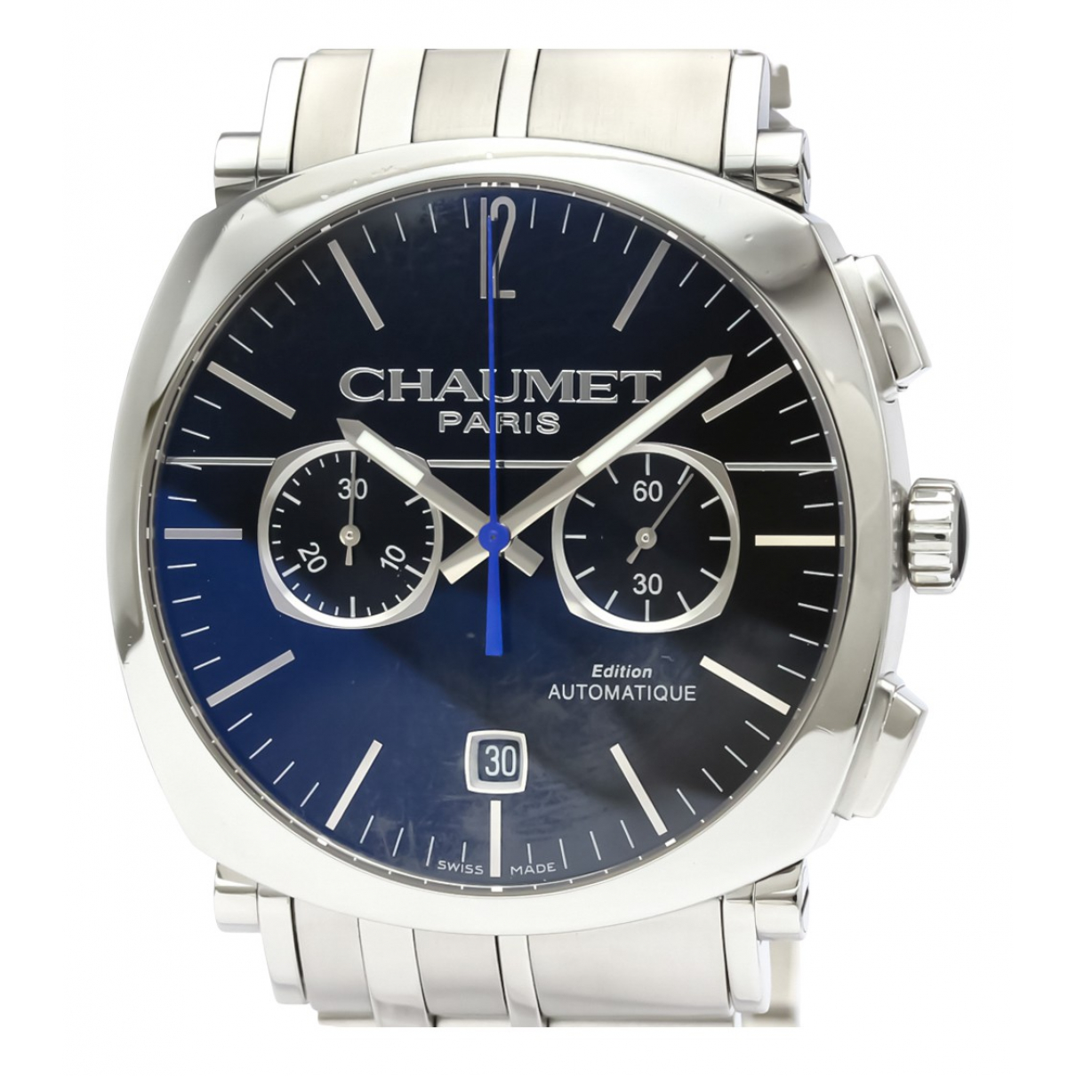 Chaumet Dandy  Black Steel watch for Men N