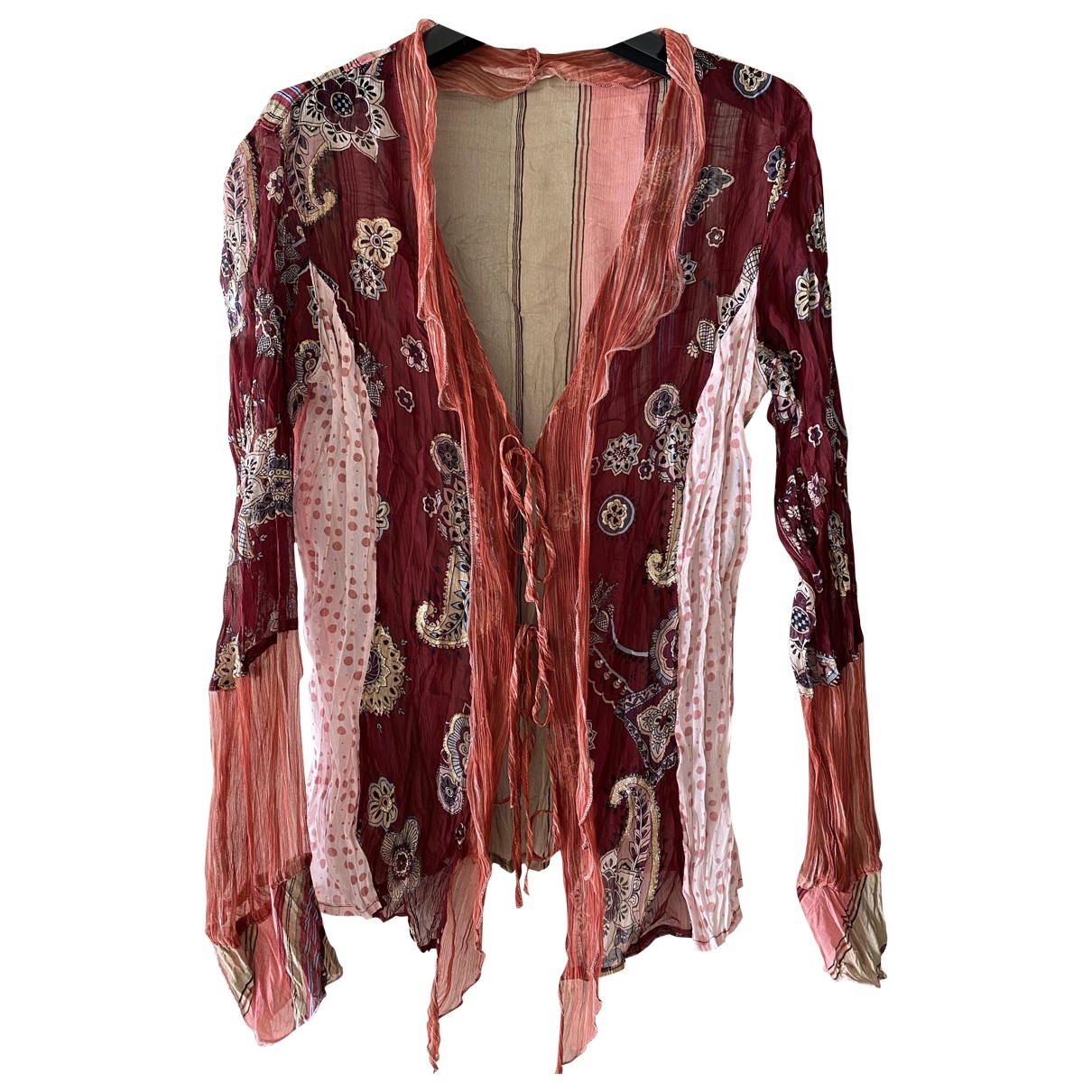 Non Signé / Unsigned Hippie Chic Purple  top for Women S International