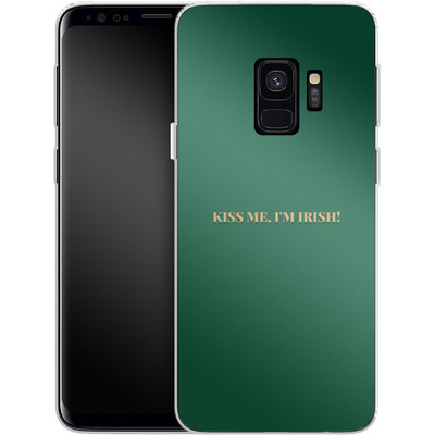 Samsung Galaxy S9 Silikon Handyhuelle - Kiss Me Im Irish von caseable Designs