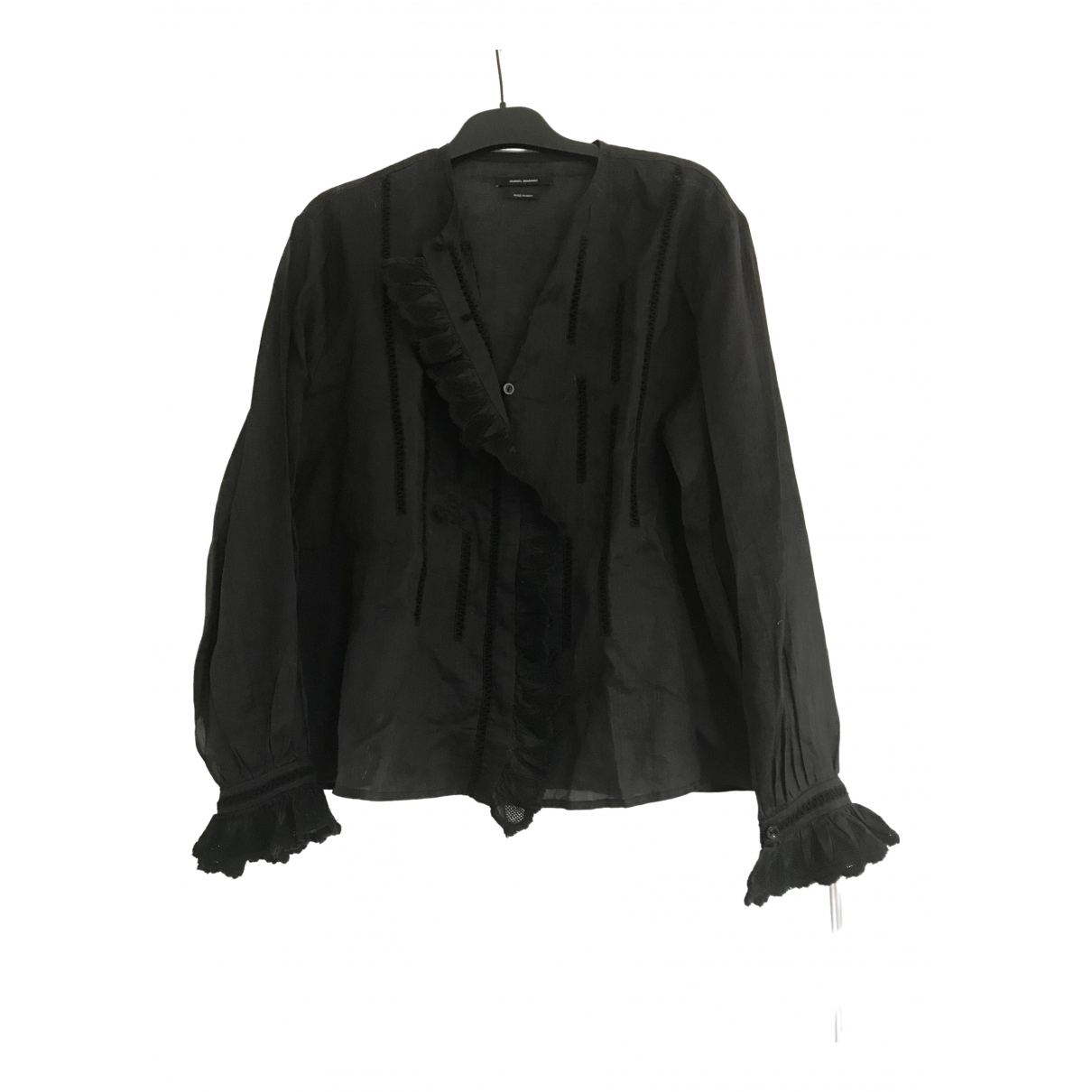 Isabel Marant \N Black Linen  top for Women 36 FR