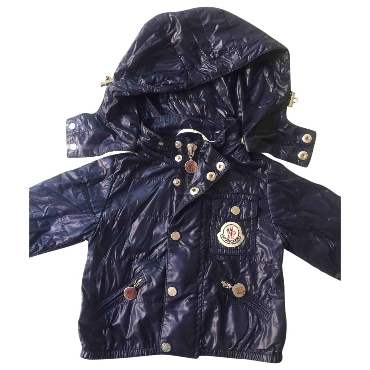 Moncler - Blousons.Manteaux Hood pour enfant - bleu