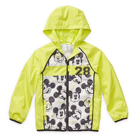 Disney Collection Little & Big Boys Mickey Mouse Lightweight Raincoat, 3 , Yellow