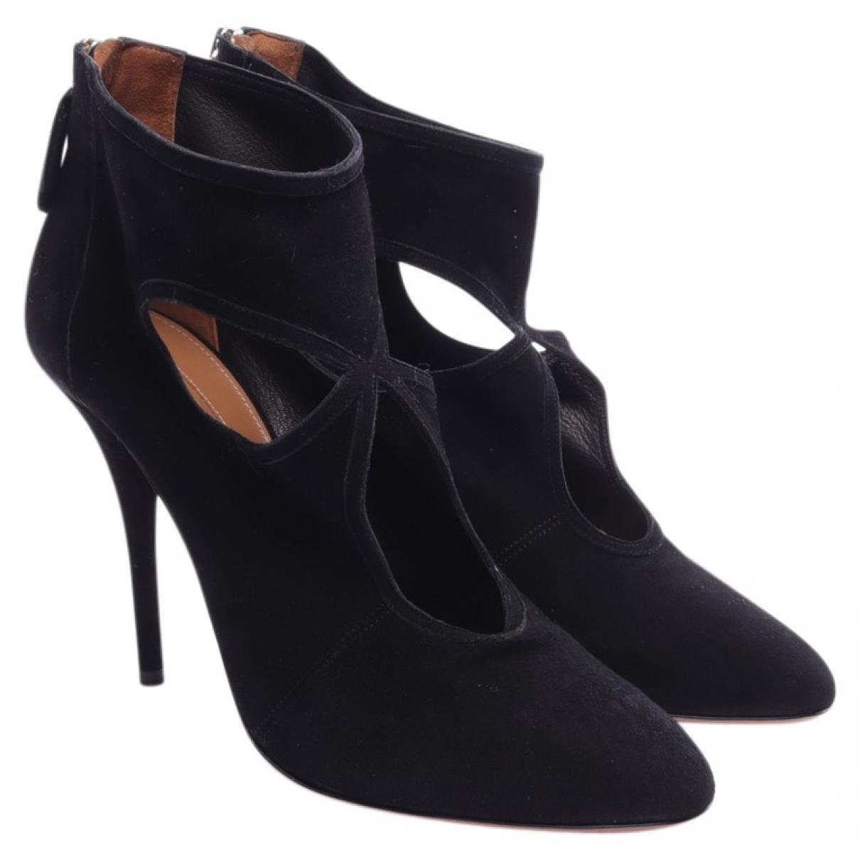 Aquazzura \N Black Leather Sandals for Women 40 EU