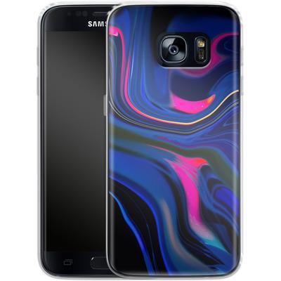 Samsung Galaxy S7 Silikon Handyhuelle - Space Swirl von #basic