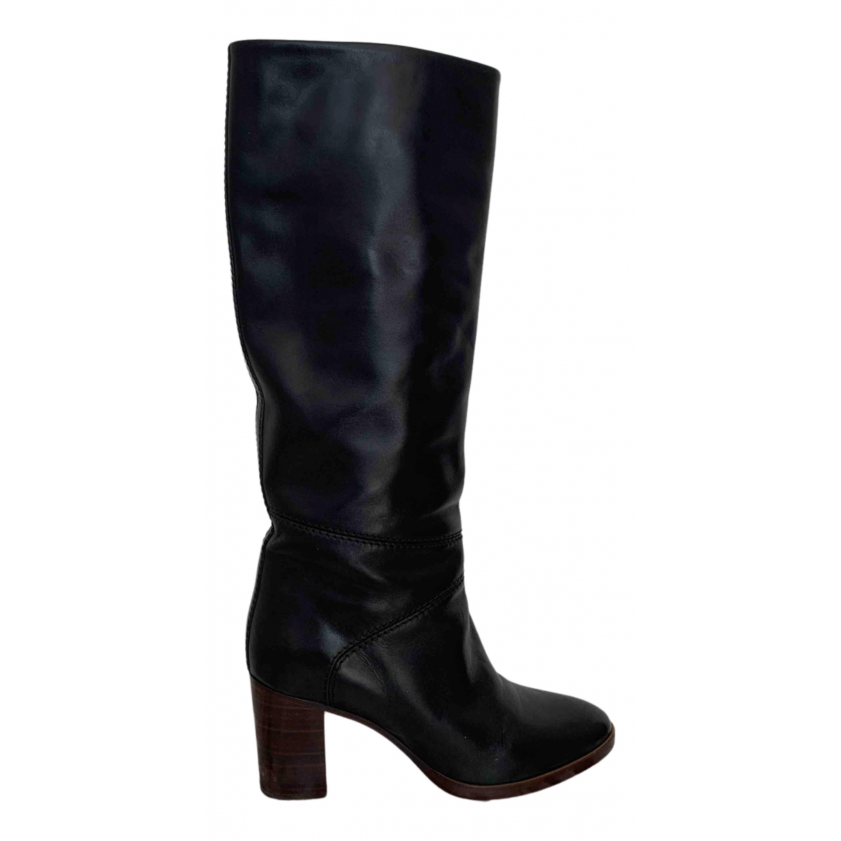 Chloé N Black Leather Boots for Women 38 IT