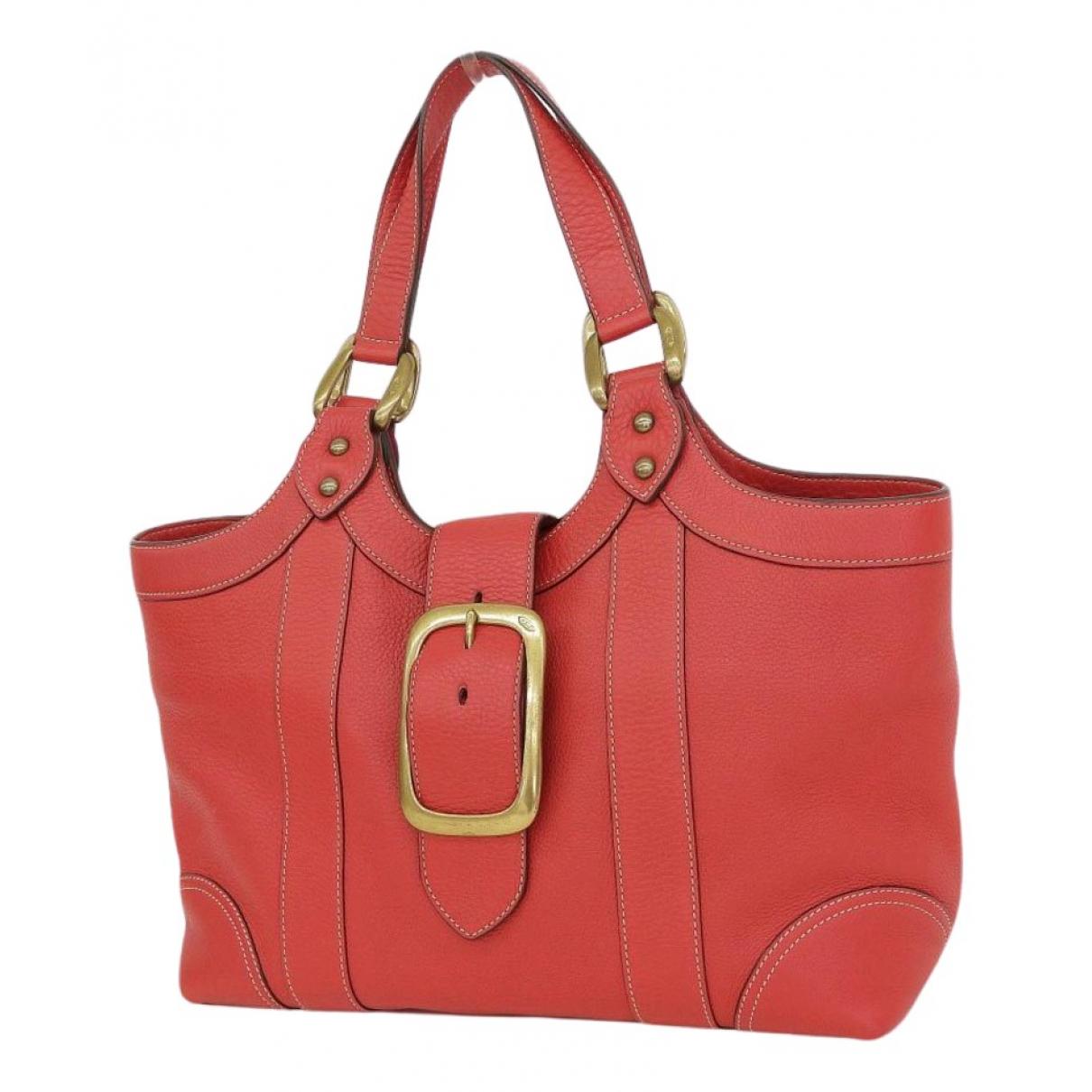 J & M Davidson \N Handtasche in  Rot Leder