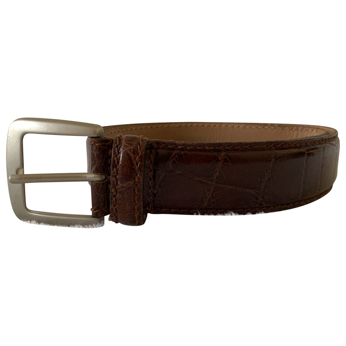 Yves Saint Laurent N Brown Leather belt for Men 90 cm