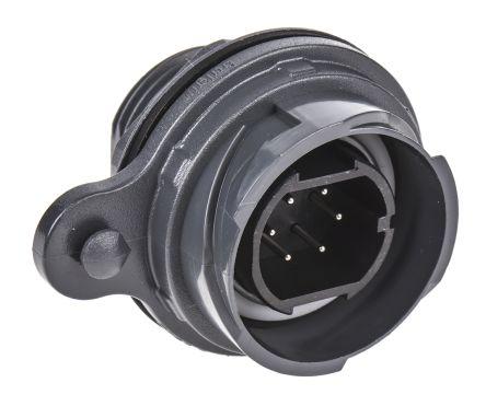 Bulgin Connector, 6 contacts Front Mount Plug, Screw IP66, IP68, IP69K