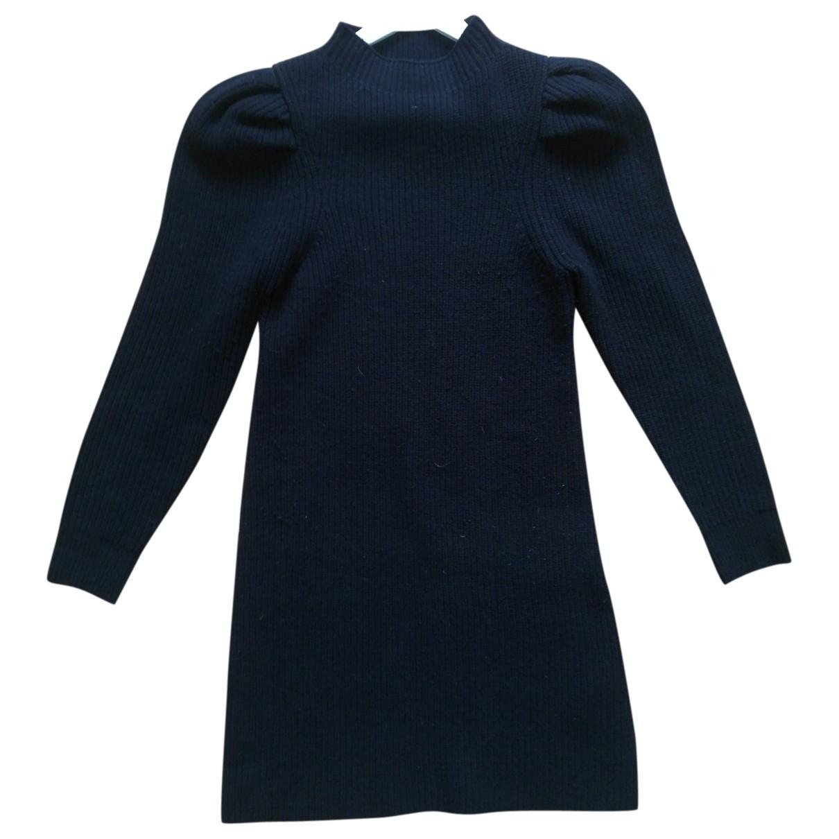 Sandro \N Black Wool dress for Women 36 FR