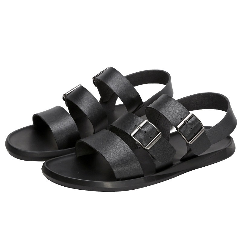 Ericdress PU Buckle Mens Flat Sandals