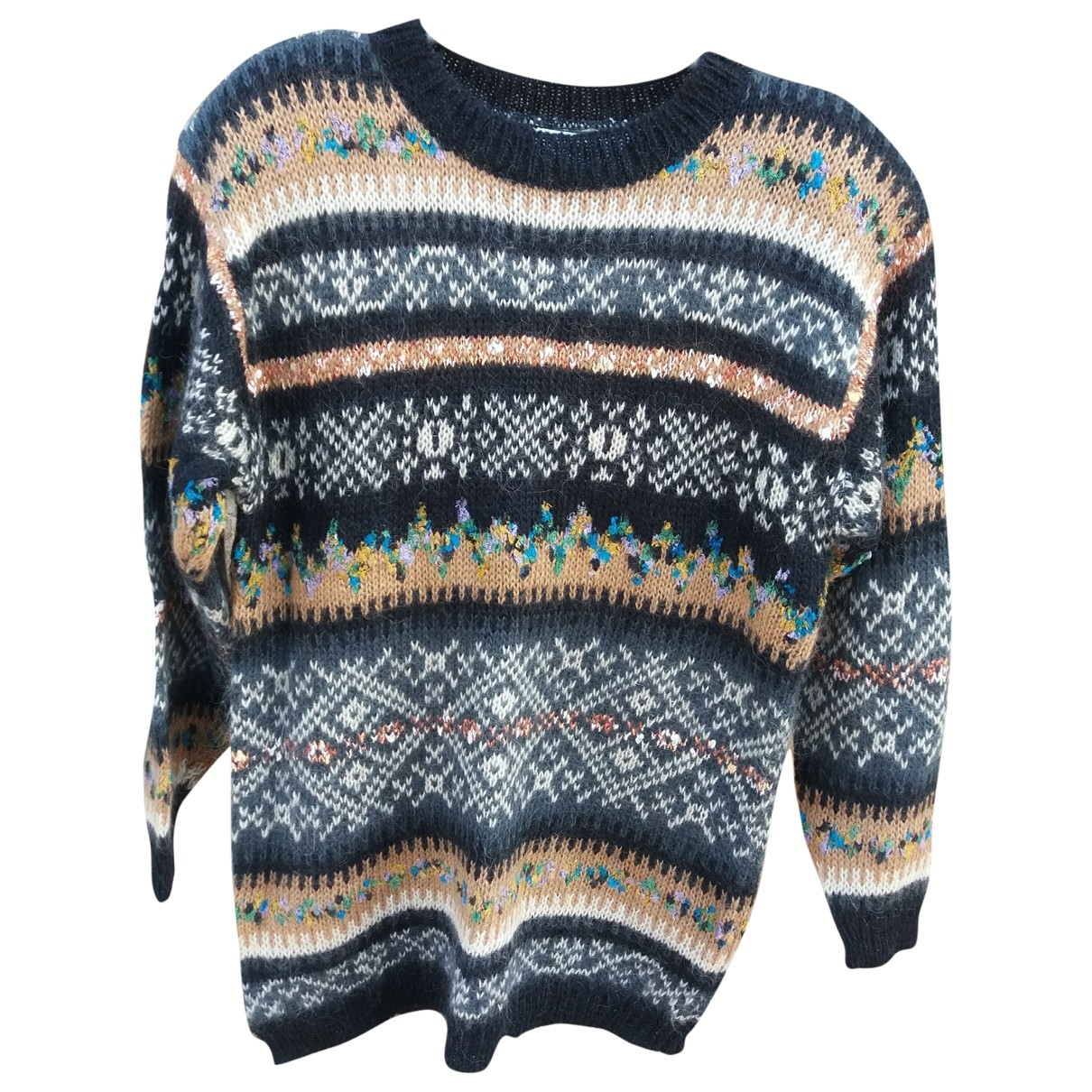Non Signe / Unsigned \N Pullover in  Bunt Synthetik
