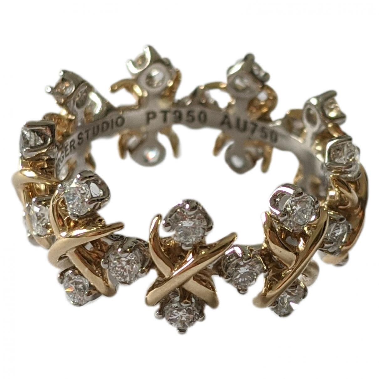 Tiffany & Co - Bague Schlumberger pour femme en platine - dore