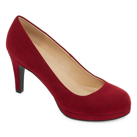 CL by Laundry Womens Nidia Pumps Closed Toe, 8 Medium, Red