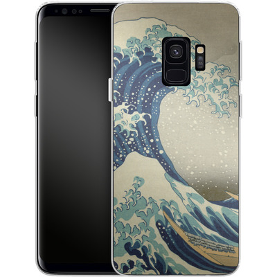 Samsung Galaxy S9 Silikon Handyhuelle - Great Wave Off Kanagawa By Hokusai von caseable Designs