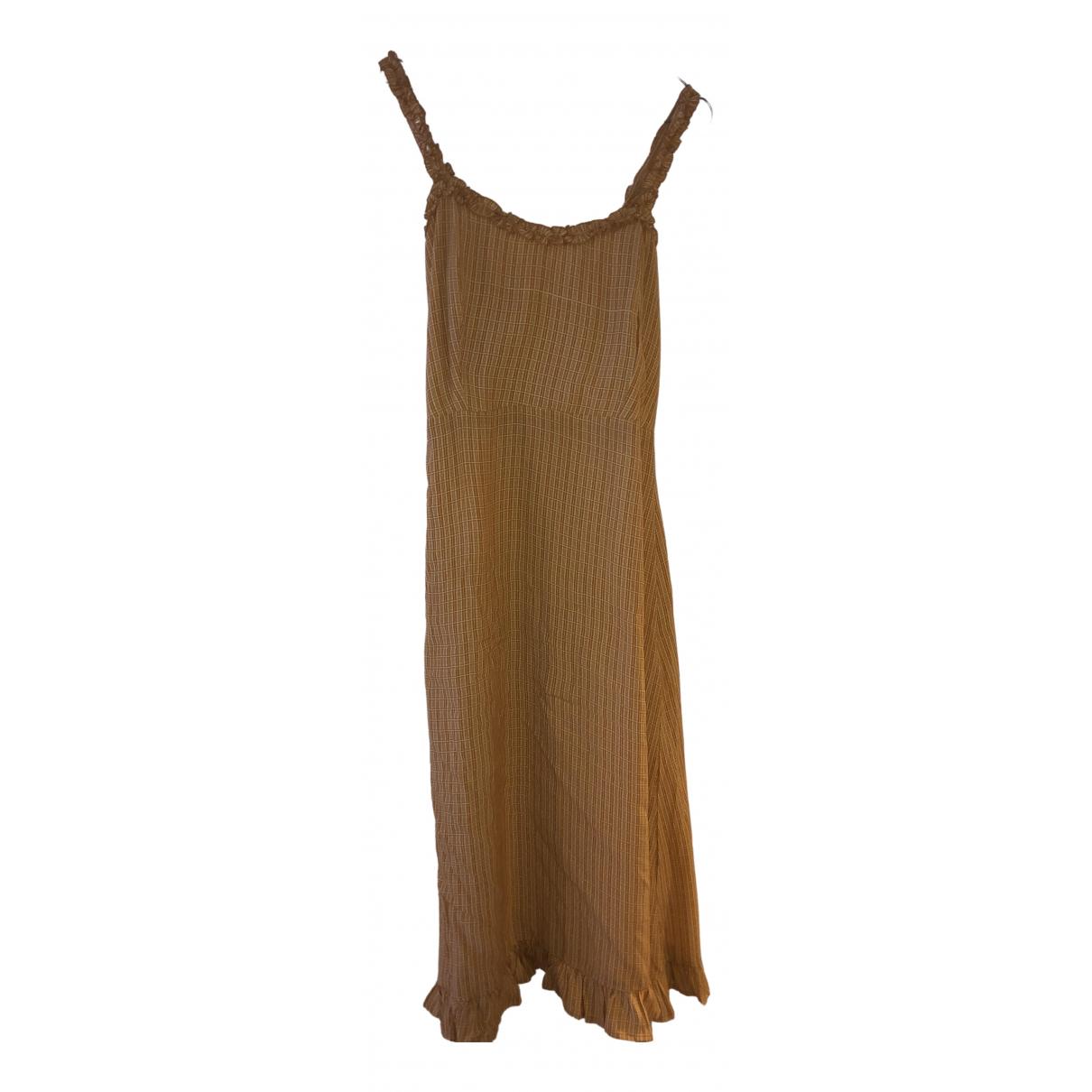 Faithfull The Brand \N Beige Cotton dress for Women L International