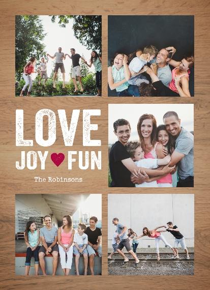 Fun 5x7 Glass Print, Home Décor -Love Joy Fun