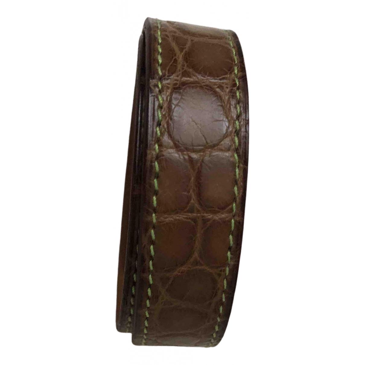 Hermes - Bracelet Petit H pour femme en crocodile - beige