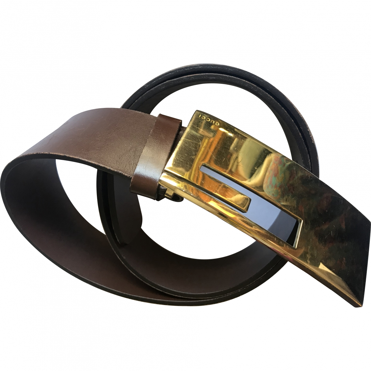 Gucci \N Brown Leather belt for Women 85 cm