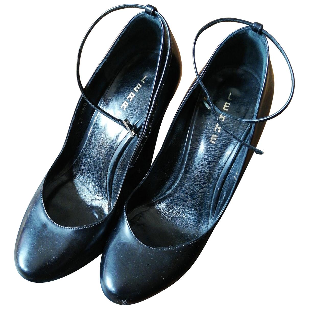 Lerre - Escarpins   pour femme en cuir - noir