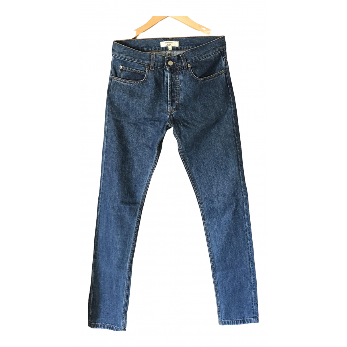 Balibaris \N Blue Cotton Jeans for Men 28 US