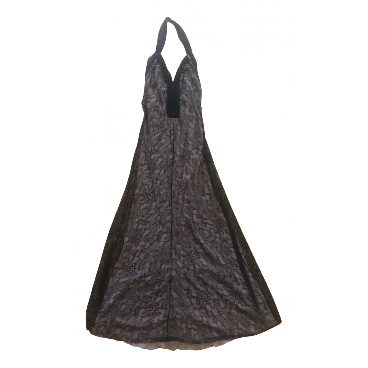 Galliano \N Kleid in  Schwarz Synthetik
