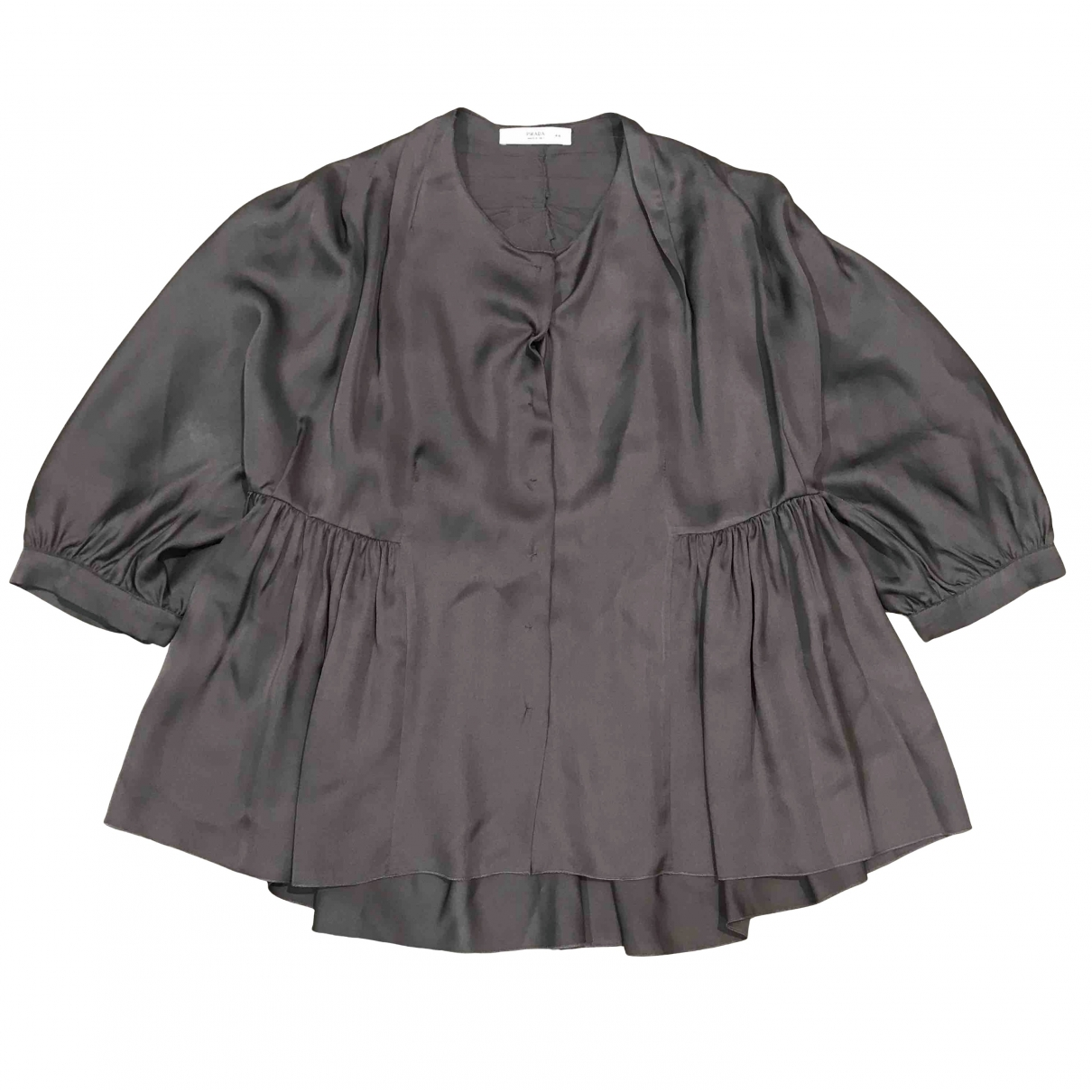 Prada \N Anthracite Silk  top for Women 44 IT