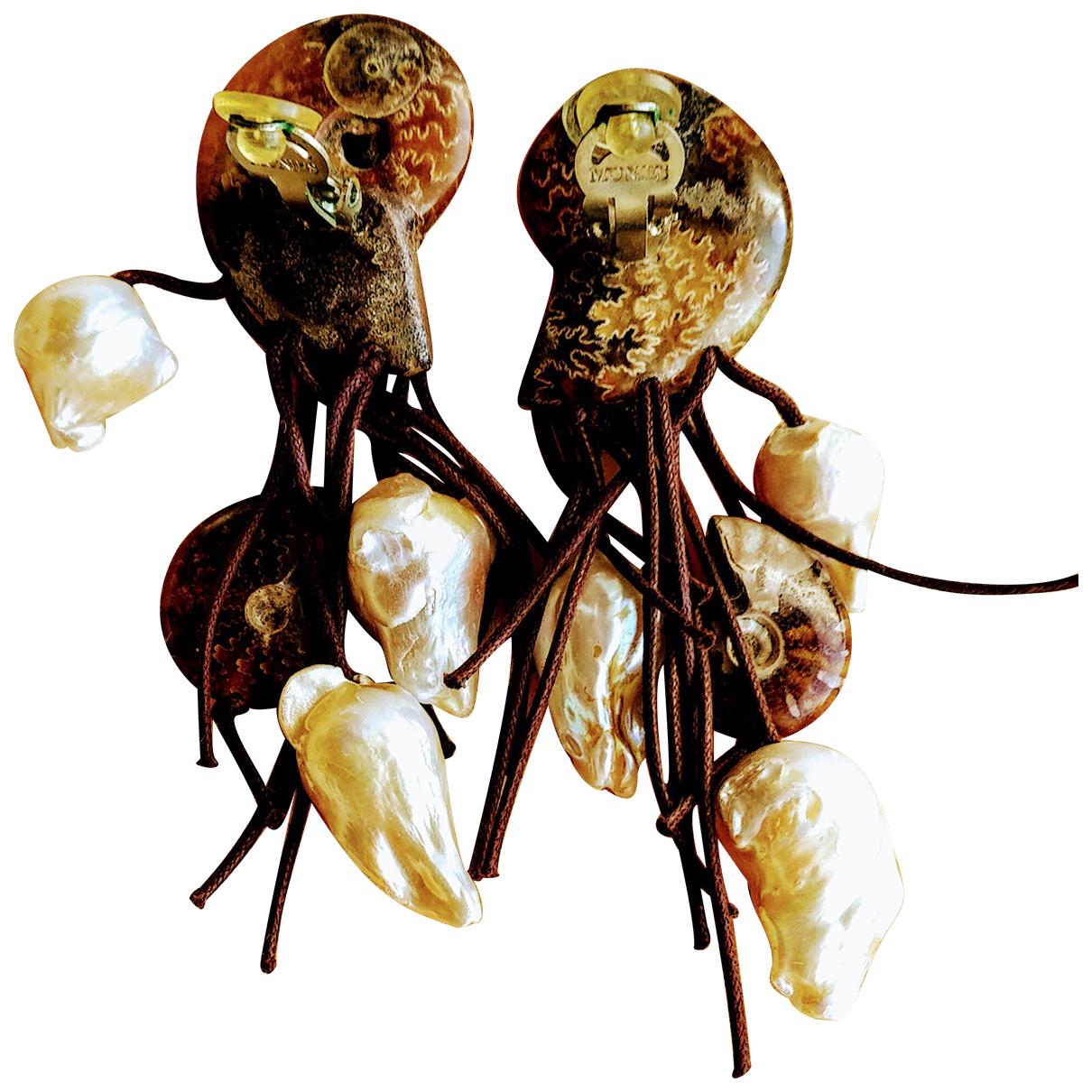 Monies - Boucles doreilles   pour femme en perle