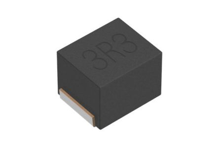 TDK , NLCV-EF, SMD Shielded Wire-wound SMD Inductor with a Ferrite Core, 3.3 μH ±20% 340mA Idc Q:20 (2000)