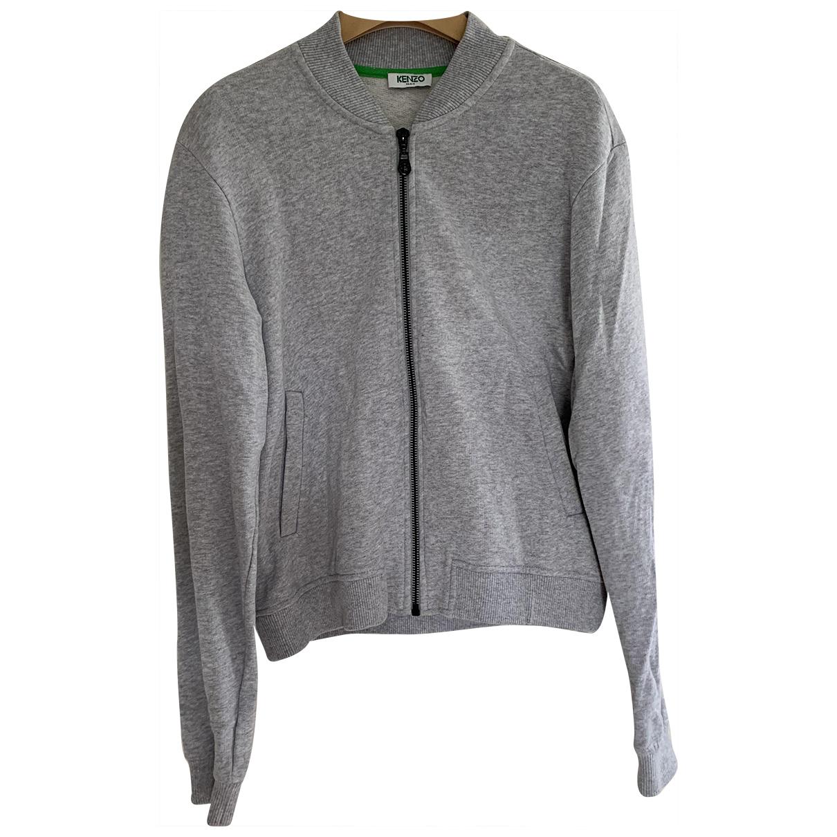 Kenzo \N Grey Cotton jacket for Women 36 FR