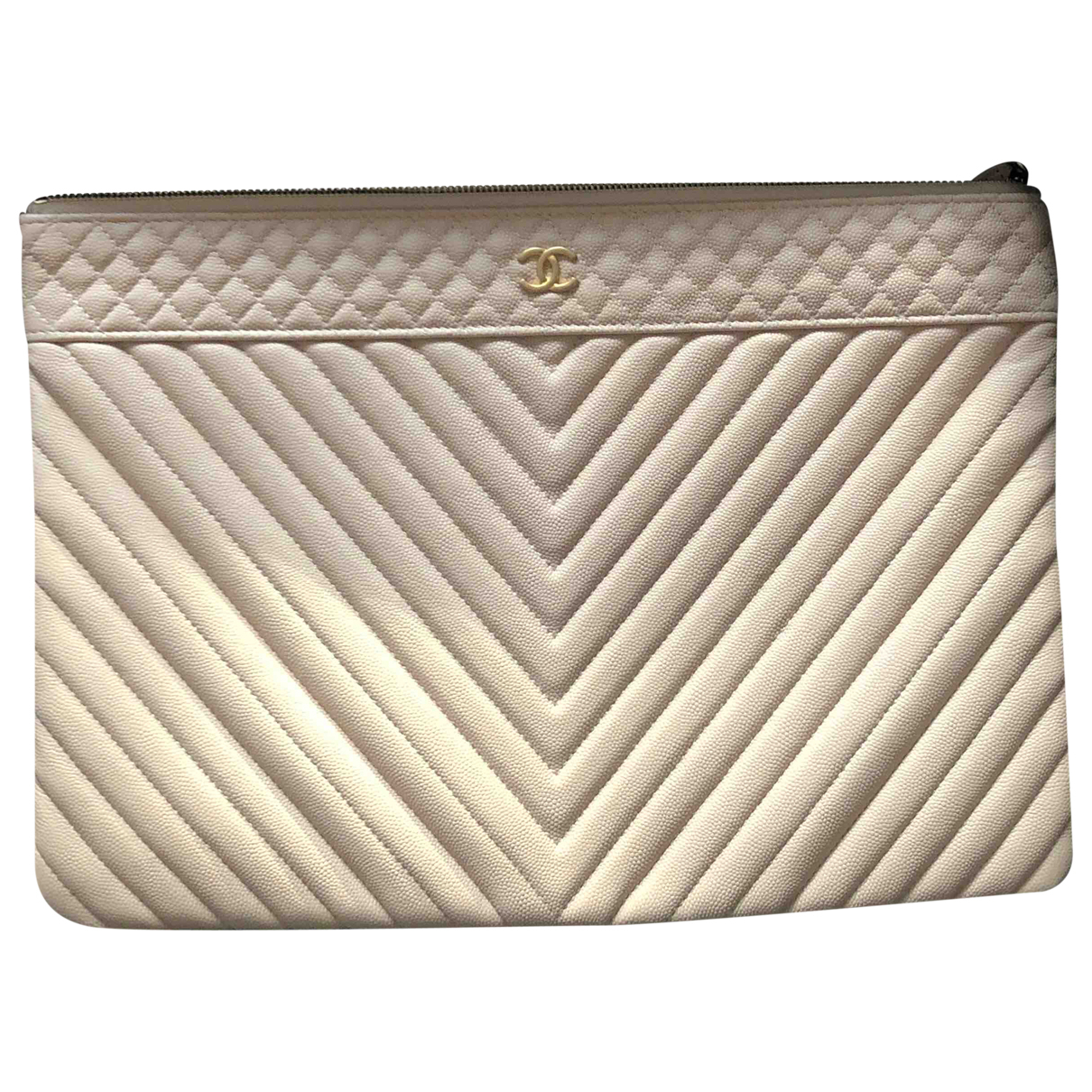 Chanel \N Clutch in  Beige Leder