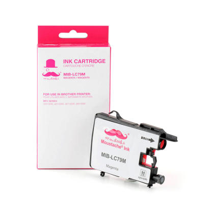 Compatible Brother MFC-J5910DW Magenta Ink Cartridge by Moustache, Extra High Yield