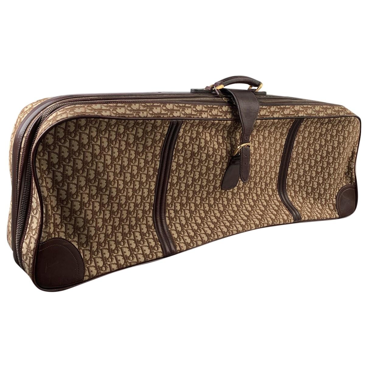 Dior \N Brown Cloth Travel bag for Women \N