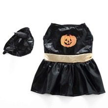 1pc Halloween Dog Hat & 1pc Dog Dress