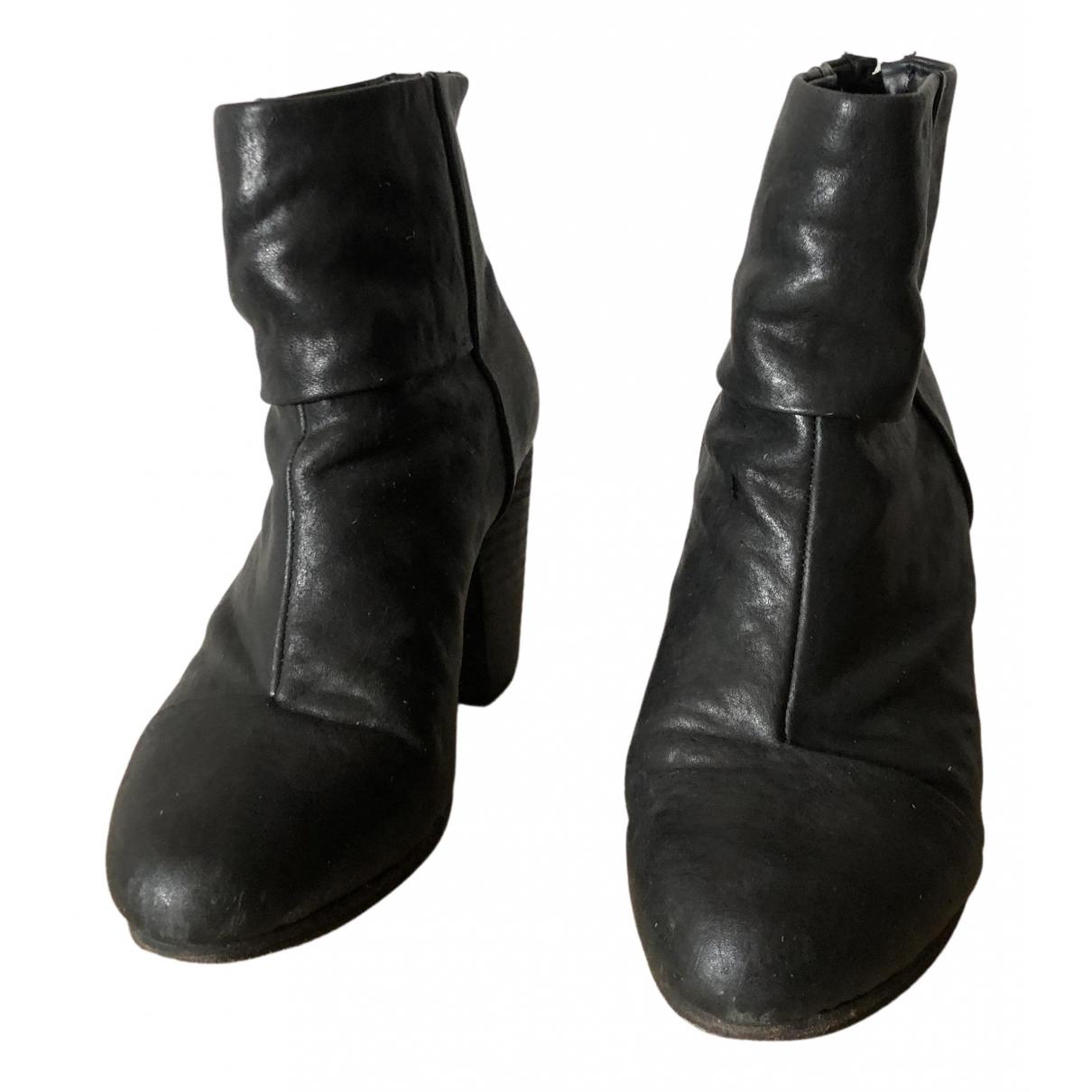 Rag & Bone - Bottes   pour femme en cuir - noir