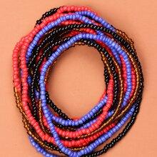 16 Stuecke Armband mit bunten Perlen Dekor