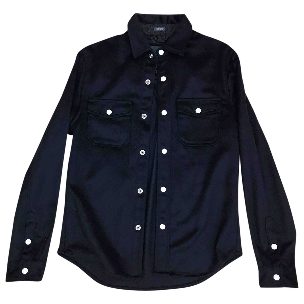 Emporio Armani - Chemises   pour homme en laine - bleu