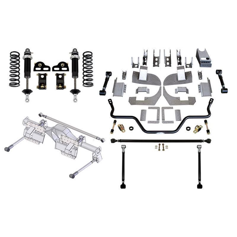 Detroit Speed 41722 QUADRALink Suspension Kit (3 Inch Axle Tubes) 1982-1992 Camaro/Firebird Base Shocks