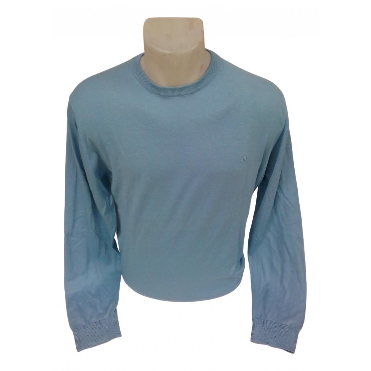Brioni \N Pullover.Westen.Sweatshirts  in  Blau Baumwolle