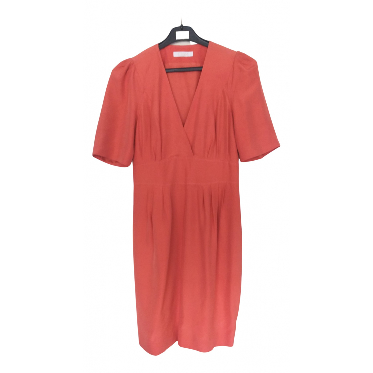 Chloé N Orange Silk dress for Women 40 FR
