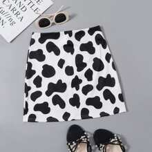 Cow Print Skirt