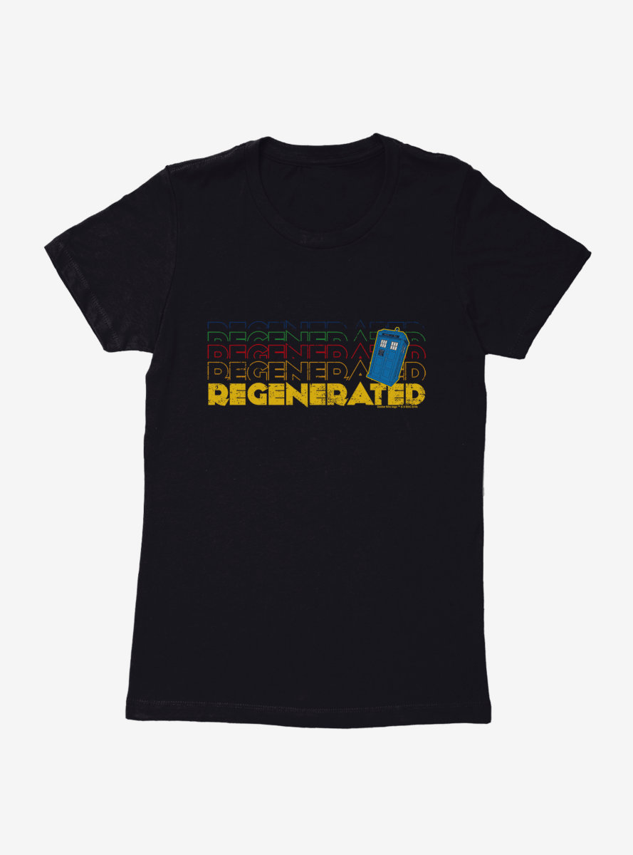 Doctor Who Thirteenth Doctor Regenerated Stack Womens T-Shirt