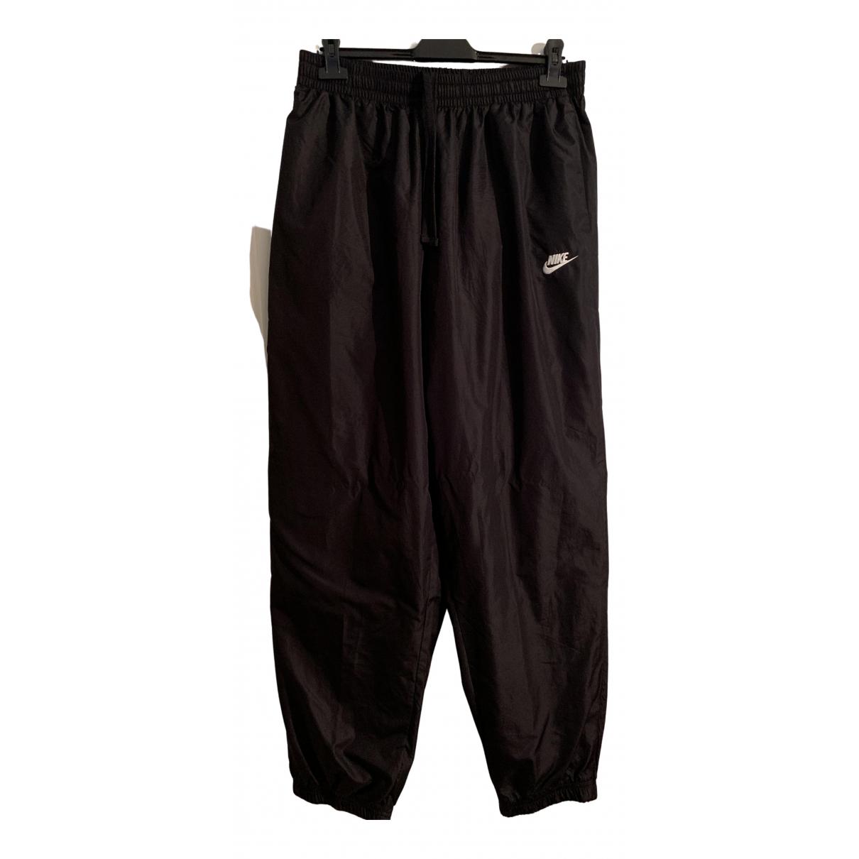 Nike \N Hose in  Schwarz Synthetik