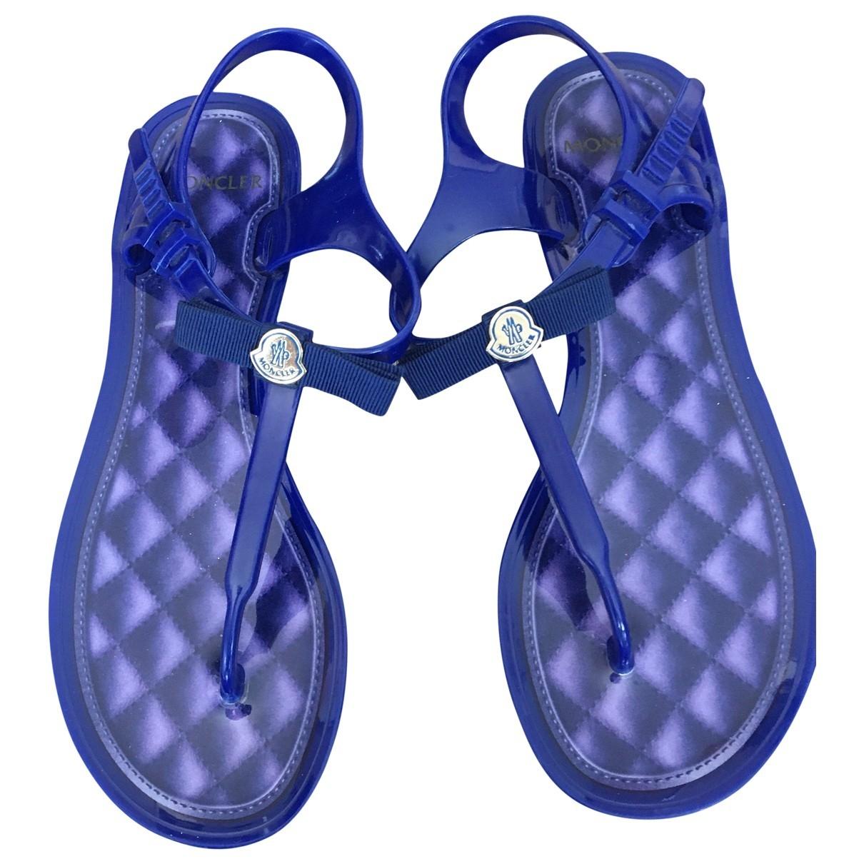Moncler \N Blue Sandals for Women 38 EU