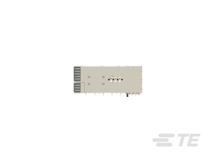 TE Connectivity , SFP56 20 Way 24 Port Female zSFP+ Cage Assembly 0.6mm Pitch Press-Fit Termination With Light Pipe (3)