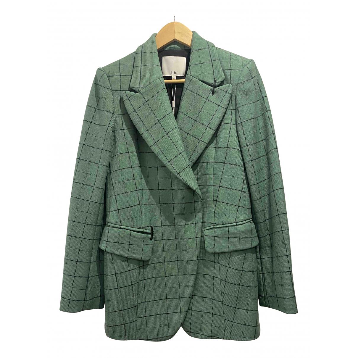Tibi - Veste   pour femme en laine - vert