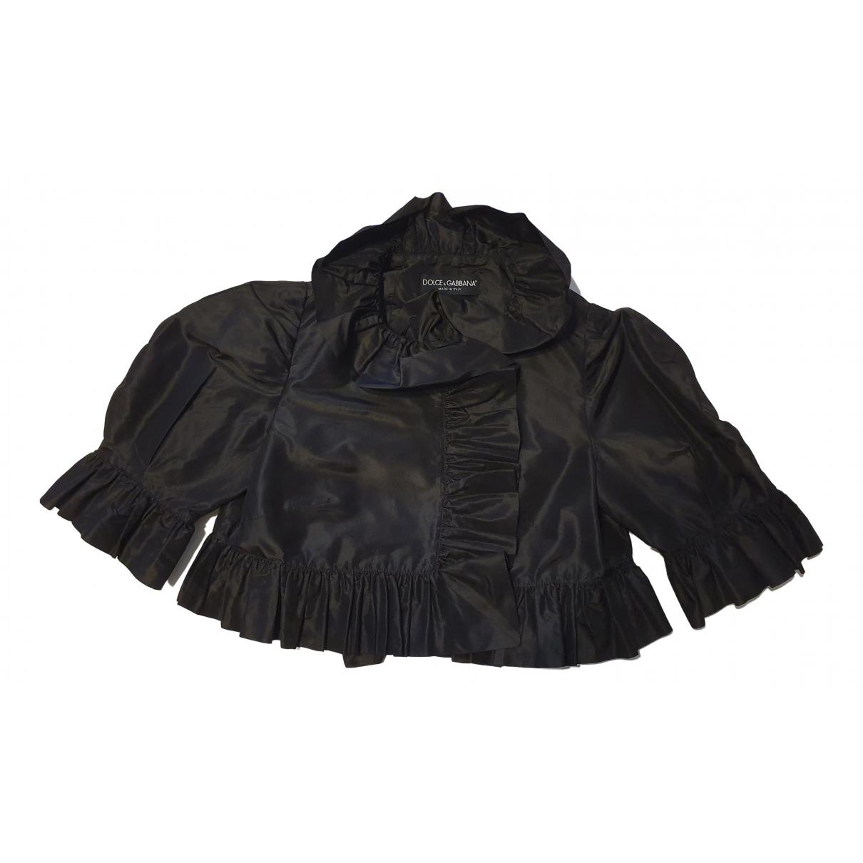 Dolce & Gabbana \N Jacke in  Schwarz Seide